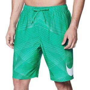 🏊♂️Men's Size Large Nike Green Swim Suit Trunks